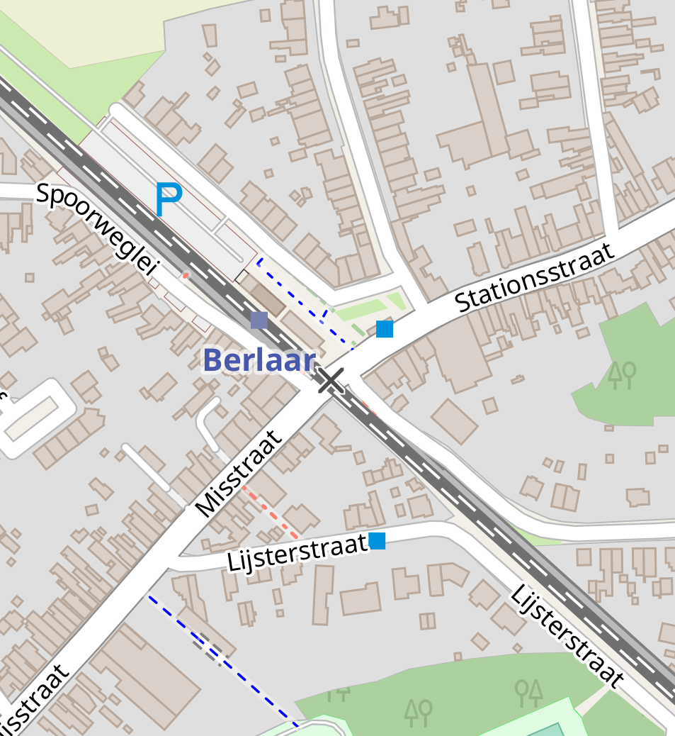 De locatie van het café op kaart